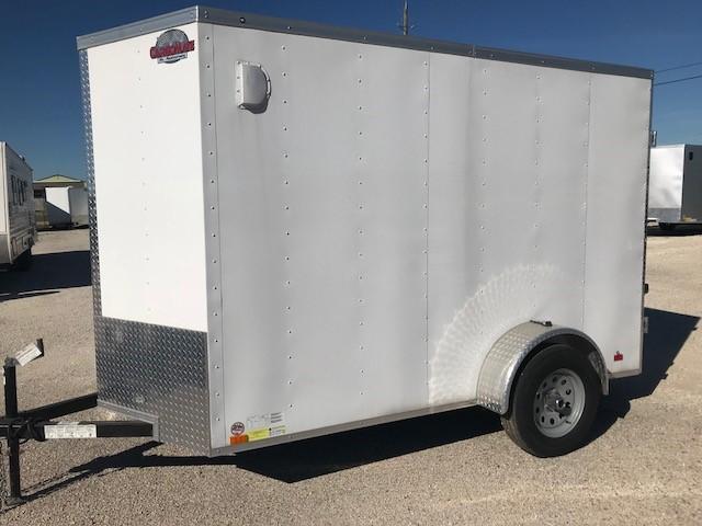 White Enclosed Cargo Trailer