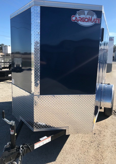 Cargomate Enclosed Cargo Trailer 5 X8 Blue Trailer