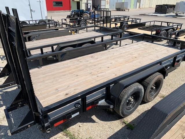 MAXXD Trailer 83x18 Utility Equipment Hauler Treated Wood Floor
