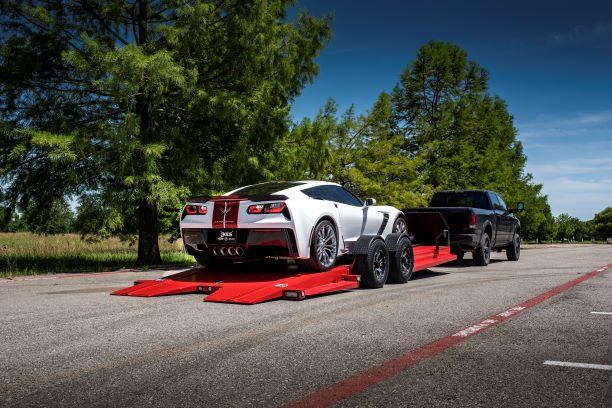 red car hauler